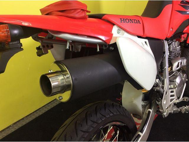 XR250モタード XR250 モタード ハンドガード 社外マフラー 社外マフラー装備!