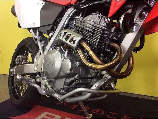XR250モタード XR250 モタード ハンドガード 社外マフラー エンジンも良好!