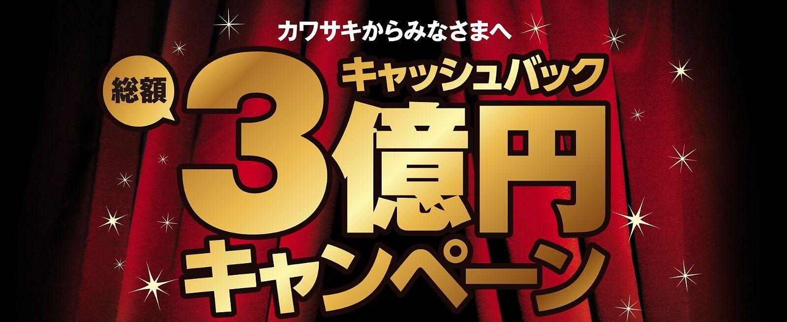 キャッシュバック総額3億円キャンペーン