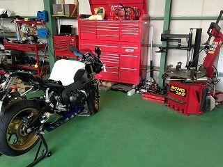 どんなバイクも整備致します!整備工場完備