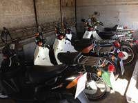 バイクに関わる部品、用品まで取扱うお店