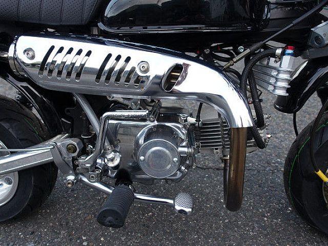 モンキー 8インチ 108cc アルミフレーム フルカスタム タケガワZスタイルマフラータイプ2
