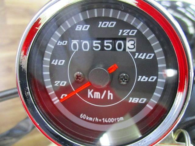 エイプ100 Ape100 マフラー・ハンドル等カスタム 社外メーター表示距離:550km