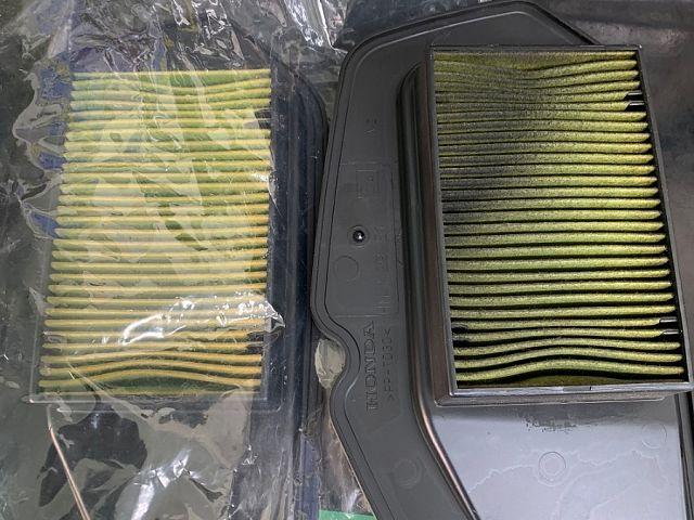 PCX125 人気のJF56 ホワイト エアクリーナー交換