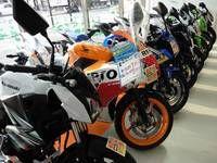 大型はもちろん、各排気量帯のオートバイ