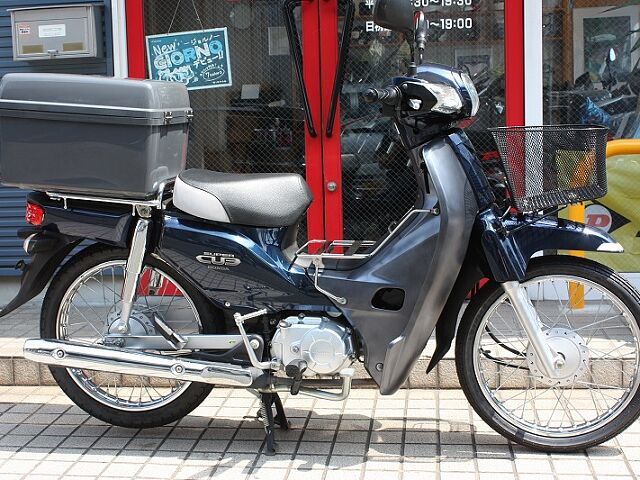 スーパーカブ110 ◆オリジナル色◆ カギ付リアボックス!! タイヤ前後新品です!