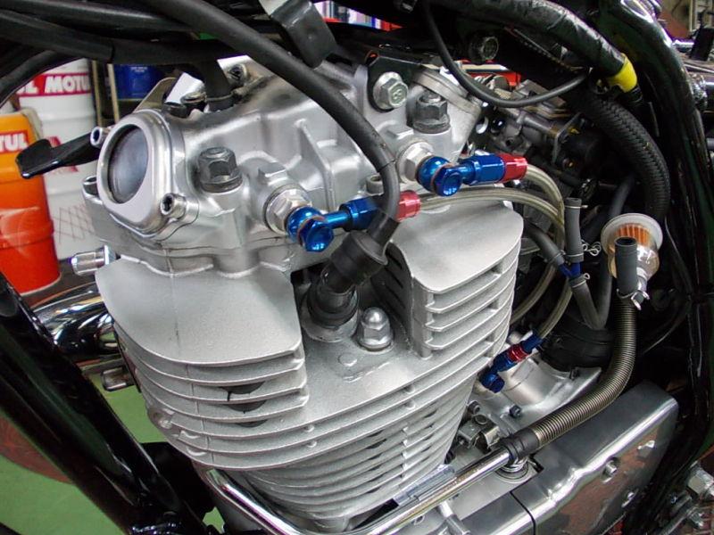 カラー:オールブラック仕様 BORE ACE オイルライン SR (オイル窓付き) ボアエース フィッティング・ホース関連 タイプ:FI車