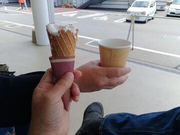 上関町道の駅「上関海峡」 ソフトクリームとコーヒー | Webikeツーリング