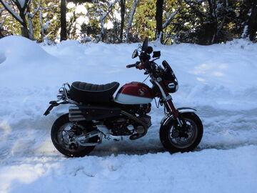 旧国道421号三重/滋賀県境「石榑峠」まで雪中走行!凍結&豪雪でモンキーくんは・・・・ | Webikeツーリング