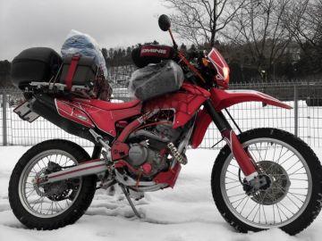 雪中ツーリング&キャンプ中 | Webikeツーリング