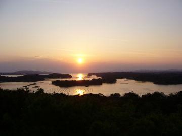 英虞湾の綺麗な夕日 | Webikeツーリング