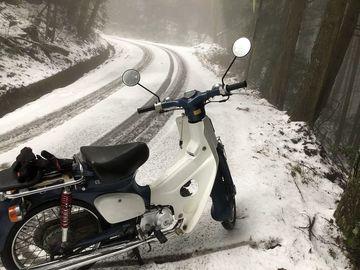 スーパーカブで雪見に行ってみた | Webikeツーリング