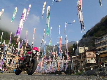 杖立温泉:鯉のぼり祭り   Webikeツーリング