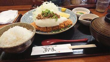 納豆おろしカツ定食   Webikeツーリング