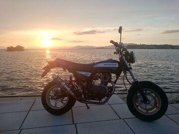 宍道湖の夕日   Webikeツーリング