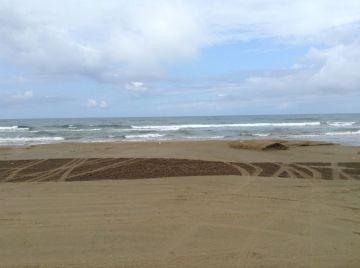 車ですが、渚を  砂浜を !  バイクならもっと楽しいだろうな!! | Webikeツーリング