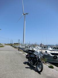 島根県 益田港 風力発電 | Webikeツーリング