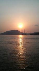 下蒲刈から見る夕日の風景 | Webikeツーリング