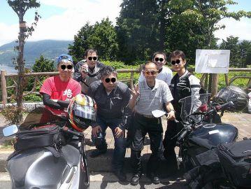 青空の下、ハ〇男とネ申の元使徒moriさん共催によるマッタリーナ・カフェ開催! | Webikeツーリング
