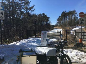 雪が少なくても冬季閉鎖中 | Webikeツーリング