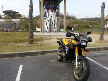 TDR250でガンダムがいる道の駅「久米の里」へ | Webikeツーリング
