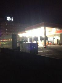 出光:夜のスタンドの写真は撮りにくいなぁ | Webikeツーリング