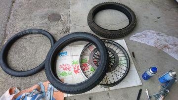 ボルティーの前輪タイヤのチューブ。